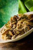 Pasta con i molluschi fotografie stock libere da diritti