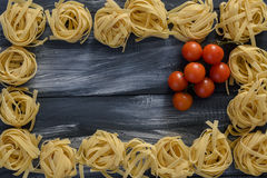Pasta con i pomodori Fotografie Stock