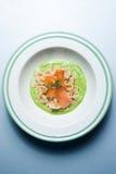 Pasta con i salmoni Fotografia Stock Libera da Diritti