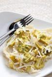 Pasta con il pollo Immagini Stock