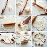 Pasta con le ciliege Fotografia Stock Libera da Diritti