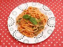 Pasta con le erbe Fotografie Stock