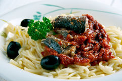 Pasta Con Le Sarde Stock Photos