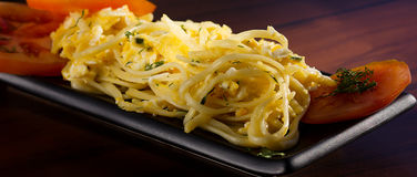 Pasta con le uova Immagine Stock