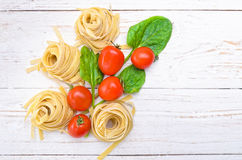 Pasta. Concept of cooking. Royalty Free Stock Photography