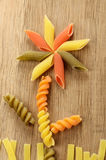 Pasta concept with flower Stock Photography