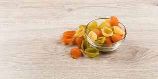 Pasta Conchiglie colorata Royalty Free Stock Photography