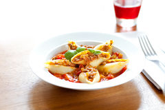 Pasta - Conchiglioni with bolognese Royalty Free Stock Photo