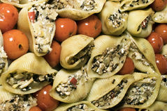 Pasta conchiglioni stuffed Royalty Free Stock Images