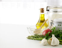 Pasta cooking. Italian food ingredients Royalty Free Stock Images