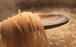 Pasta cooking Stock Images