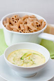 Pasta with Courgette Sauce Stock Image