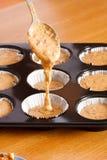 Pasta crua do queque Imagem de Stock