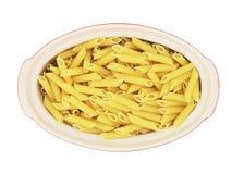 Pasta cruda organica del penne Fotografia Stock Libera da Diritti
