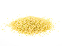 Pasta cuscus or Couscous isolated on white background.  royalty free stock photo