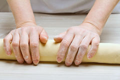 Pasta d'impastamento Fotografia Stock