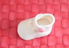 Pasta de azúcar hecha en casa Bebé nacimiento Magdalena azúcar foto de archivo libre de regalías