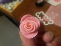 Pasta de azúcar Rose imagen de archivo libre de regalías