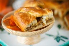 Pasta de empanada con la col cocida Imagen de archivo libre de regalías
