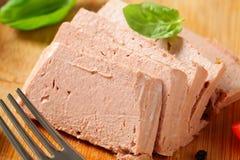 Pasta de fígado Fotografia de Stock