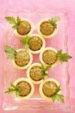 Pasta de fígado caseiro da galinha nos tartlets Fotografia de Stock