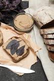 Pasta de f?gado do pato, aperitivo caseiro fotos de stock royalty free