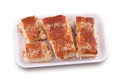 Pasta de hojaldre con chisporroteos del cerdo fotos de archivo libres de regalías