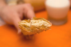 Pasta de hojaldre con queso Fotografía de archivo