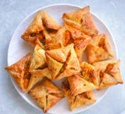 Pasta de hojaldre del soplo-vegetariano del curry imagen de archivo libre de regalías