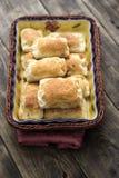 Pasta de hojaldre hecha en casa Fotos de archivo libres de regalías