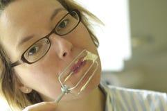 Pasta de la prueba de la mujer Foto de archivo libre de regalías
