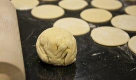 Pasta de las bolas de masa hervida Foto de archivo