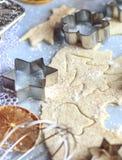 Pasta de las galletas de la Navidad Foto de archivo libre de regalías