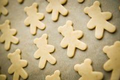 Pasta de las galletas de la Navidad lista para cocer fotografía de archivo