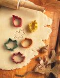 Pasta de las galletas del corte hecha en casa para Halloween y la acción de gracias Fotos de archivo libres de regalías