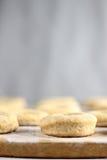 Pasta de los buñuelos Foto de archivo