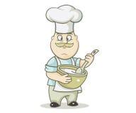 pasta de mezcla de la Jefe-cocina libre illustration