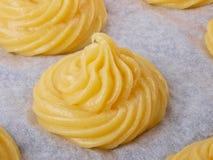 Pasta de pasteles de los Choux Fotografía de archivo