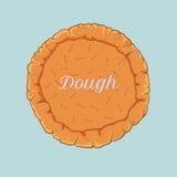 Pasta de pasteles del vector para la pizza o la empanada Fotos de archivo libres de regalías