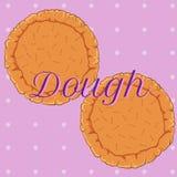 Pasta de pasteles del vector para la pizza o la empanada ilustración del vector