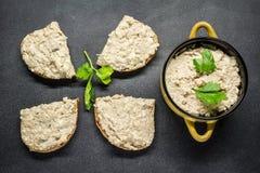 Pasta de pescados con el huevo Imagen de archivo libre de regalías