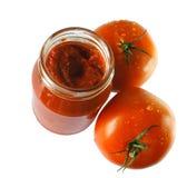 Pasta de tomate Imagem de Stock Royalty Free