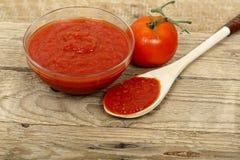 Pasta de tomate Fotografia de Stock Royalty Free