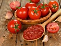 Pasta de tomate Fotografía de archivo
