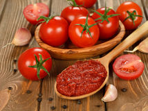 Pasta de tomate Fotografia de Stock