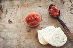 Pasta de tomate caseiro Imagens de Stock