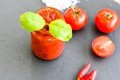 Pasta de tomate caseiro Foto de Stock Royalty Free