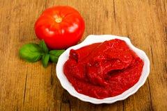 Pasta de tomate imagem de stock
