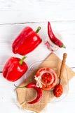 Pasta de tomates afiada Imagens de Stock