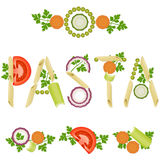 Pasta decoration Stock Photo